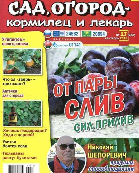 Сад огород кормилец и лекарь №17 сентябрь 2015