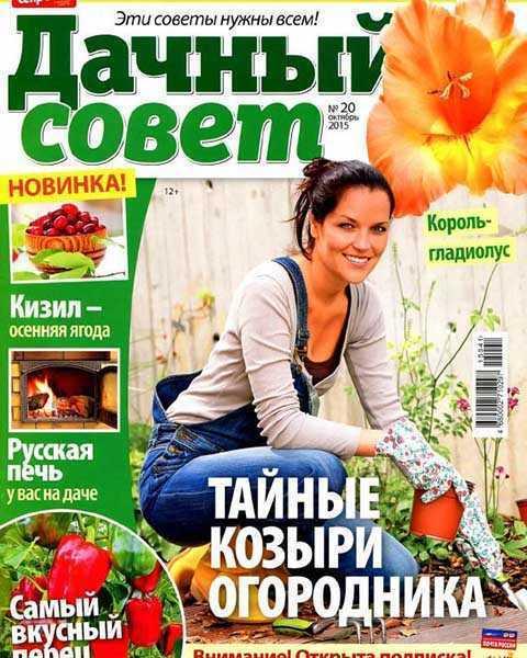 Журнал Дачный совет №20 октябрь 2015, перец, печь
