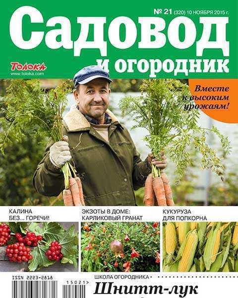 Морковка, Садовод и огородник №21 ноябрь 2015