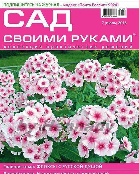 Журнал Сад своими руками №7 июль 2016