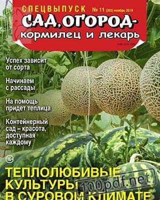 Дыни и арбузы Сад, огород – кормилец и лекарь №11 2019 СВ