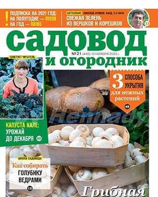 Обложка Садовод и огородник 21 2020