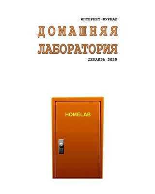 Обложка Домашняя лаборатория 12 2020