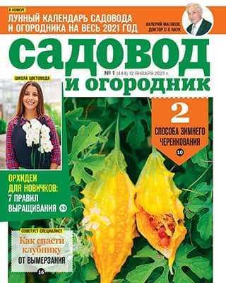 Обложка Садовод и огородник 1 2021